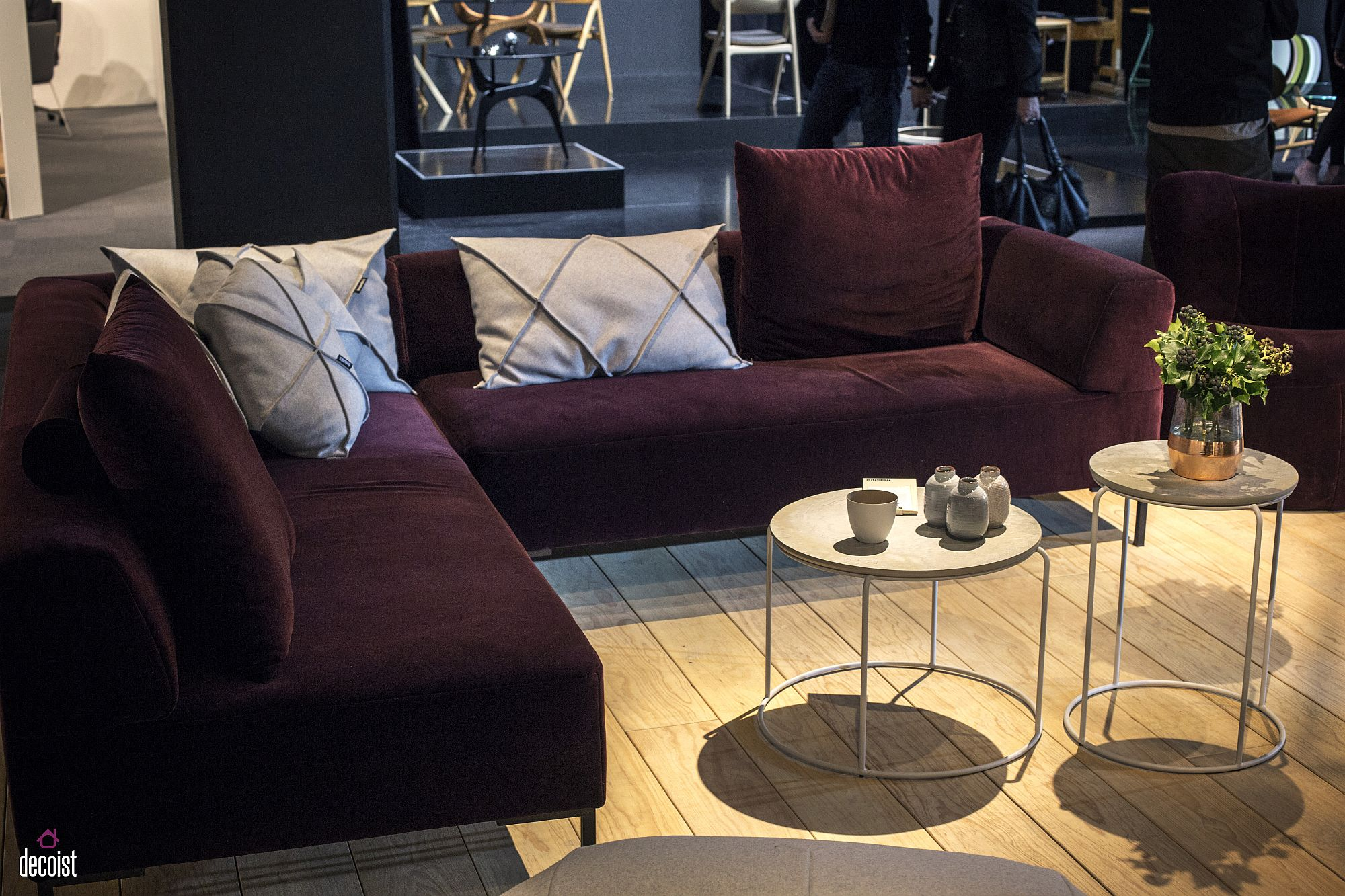 Gorgeous and colorful sectional from Freistil Rolf Benz