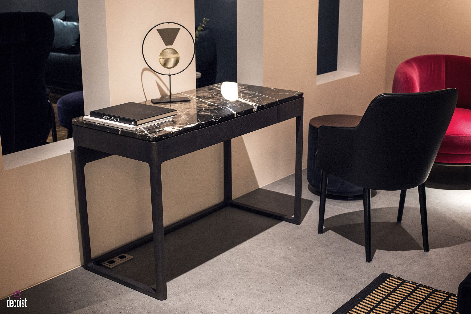Gorgeous marble top writing desk from Porada