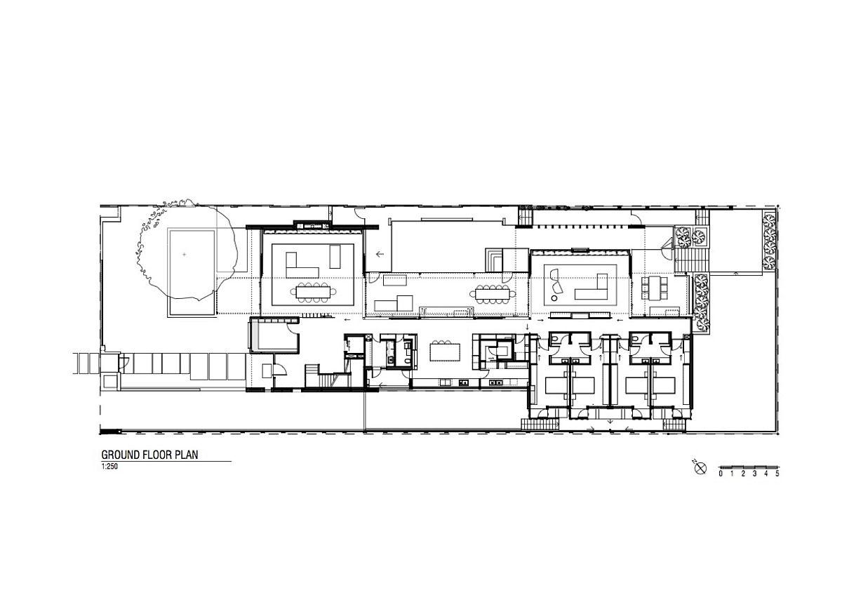 Ground floor plan of Gallery House in the suburbs of Perth