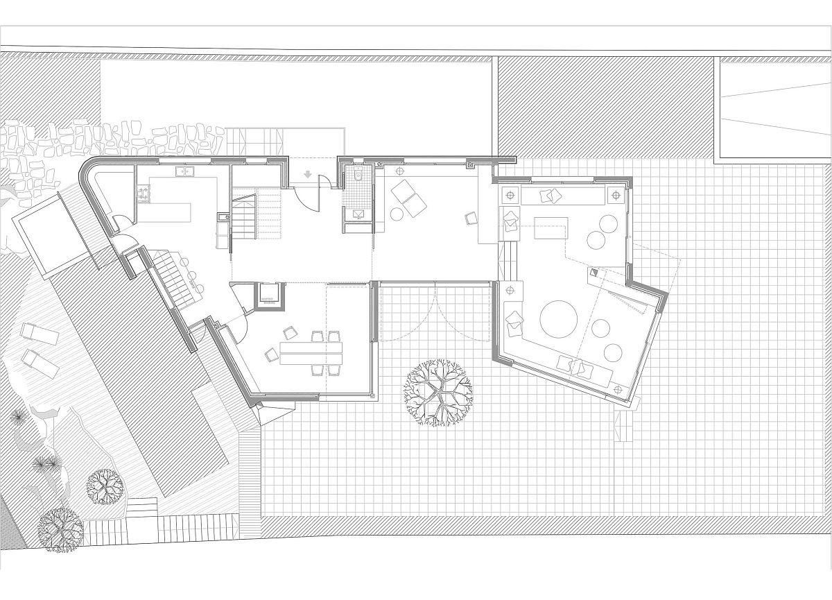Ground level floor plan of House in Pedralbes