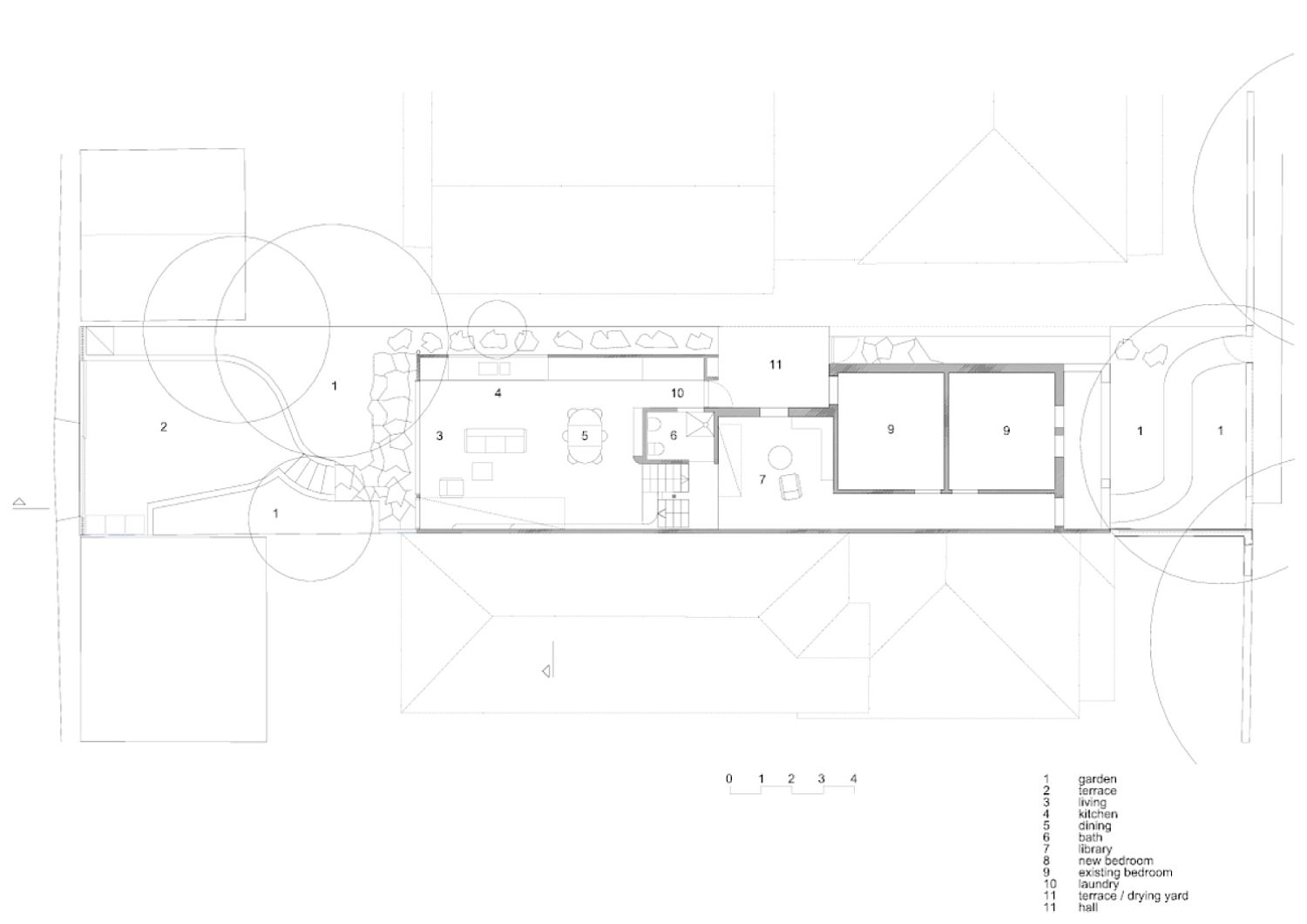 Ground level floor plan of the revamped Sydney house