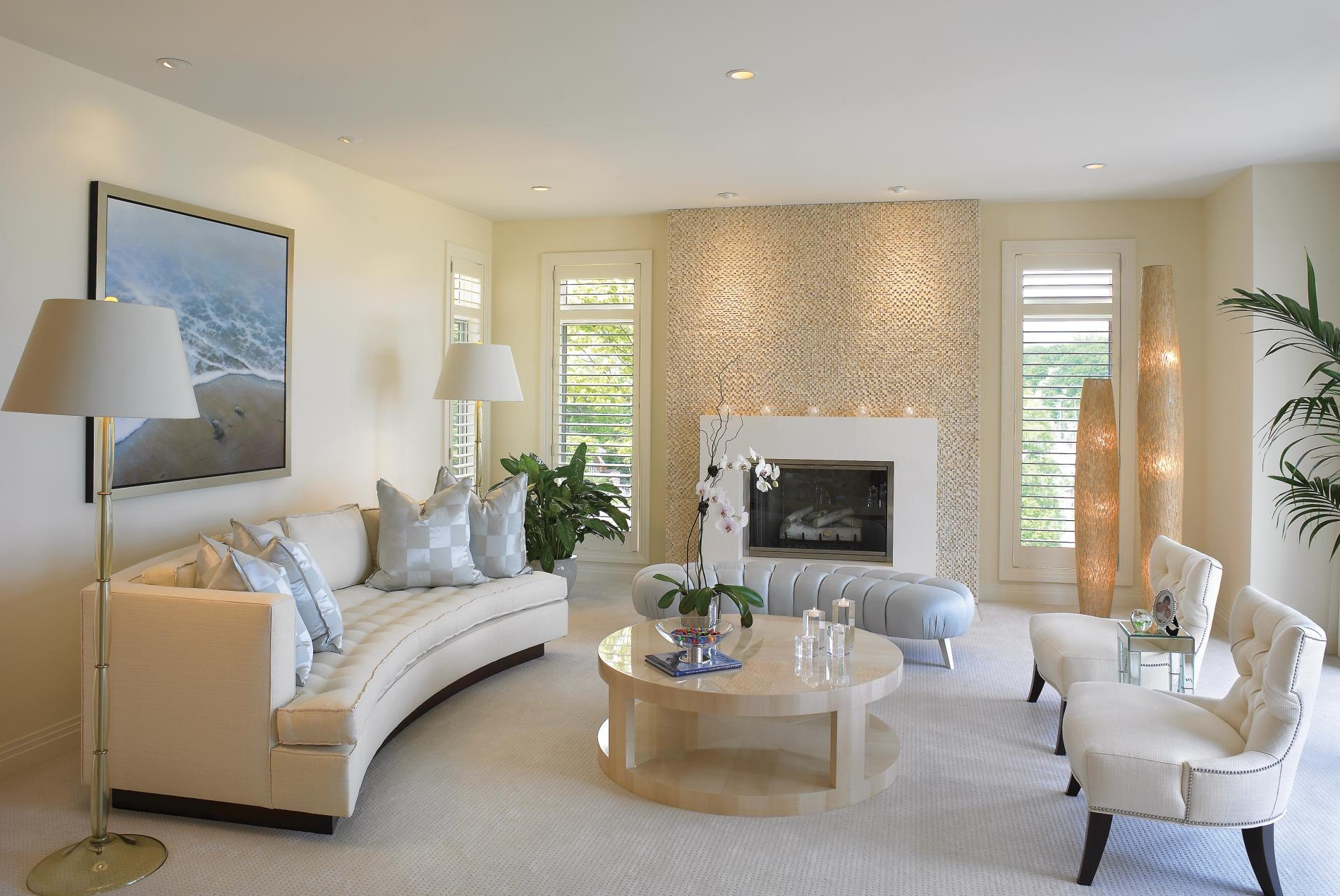 Cream Living Room Interiors