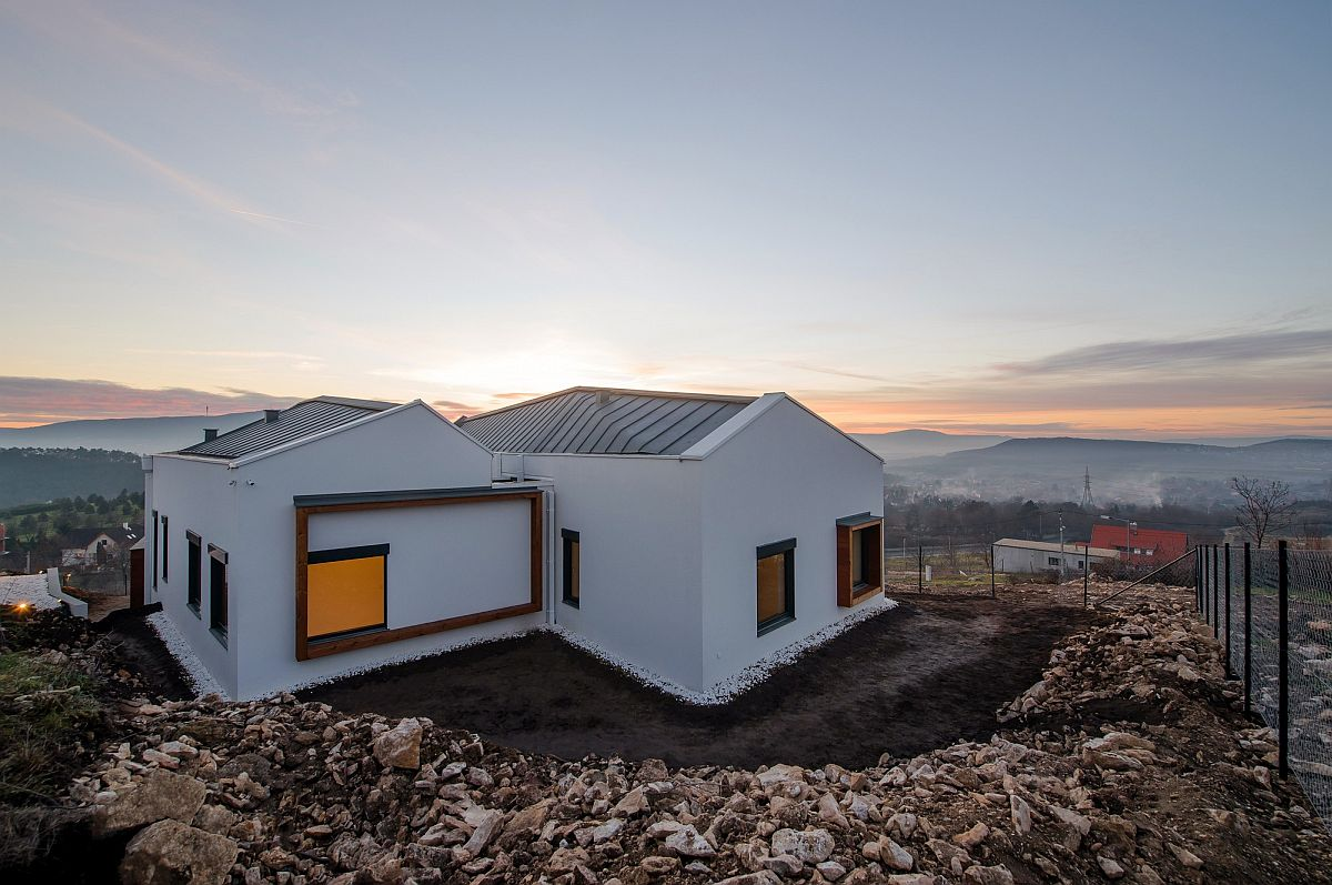 Hilltop gable roof homes offer a bird's eyeview of Budapest