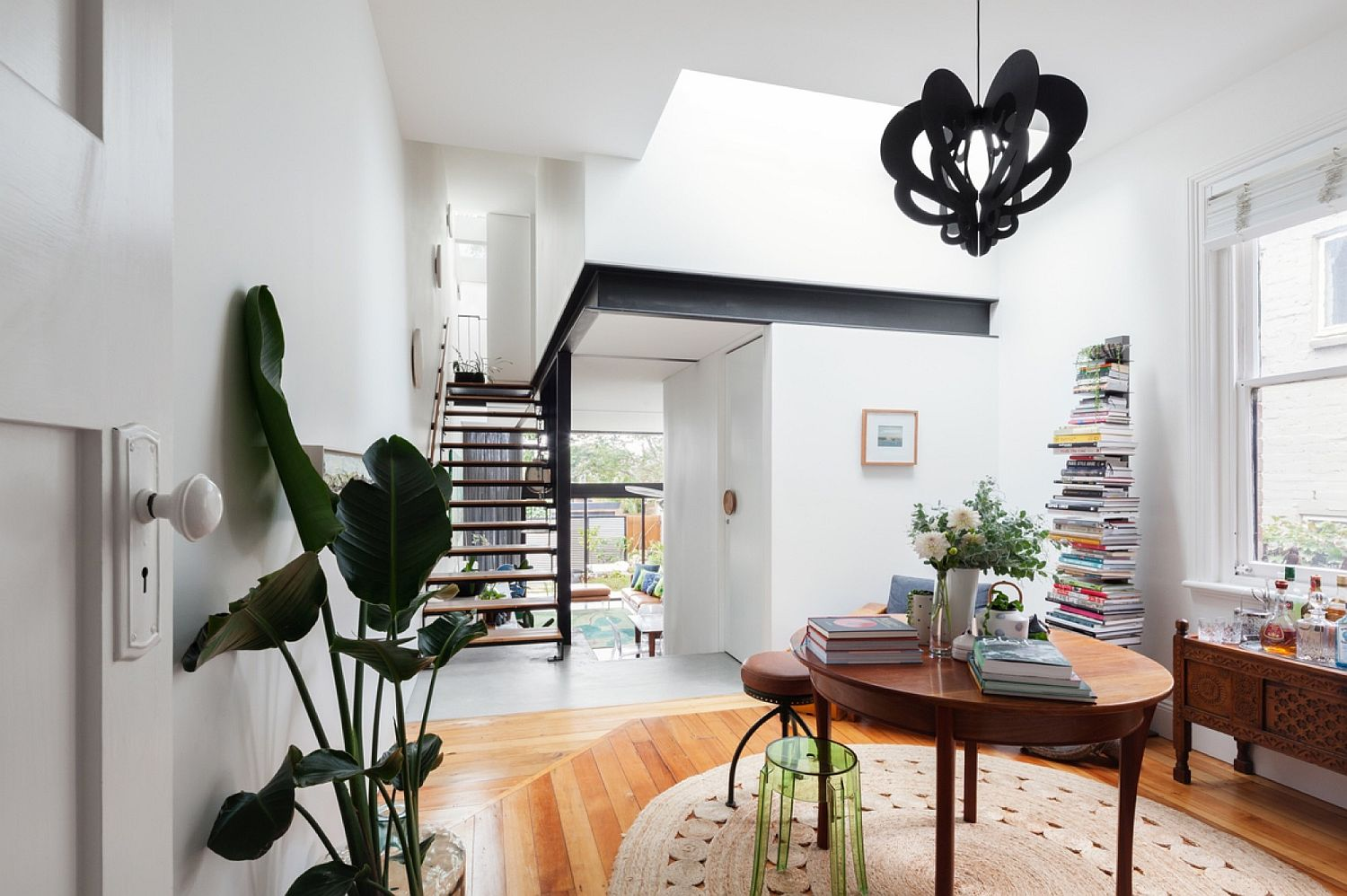 Home library with a smart space to store books