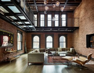Modern Industrial: 1890's New York apartment Turned into Exquisite Penthouse
