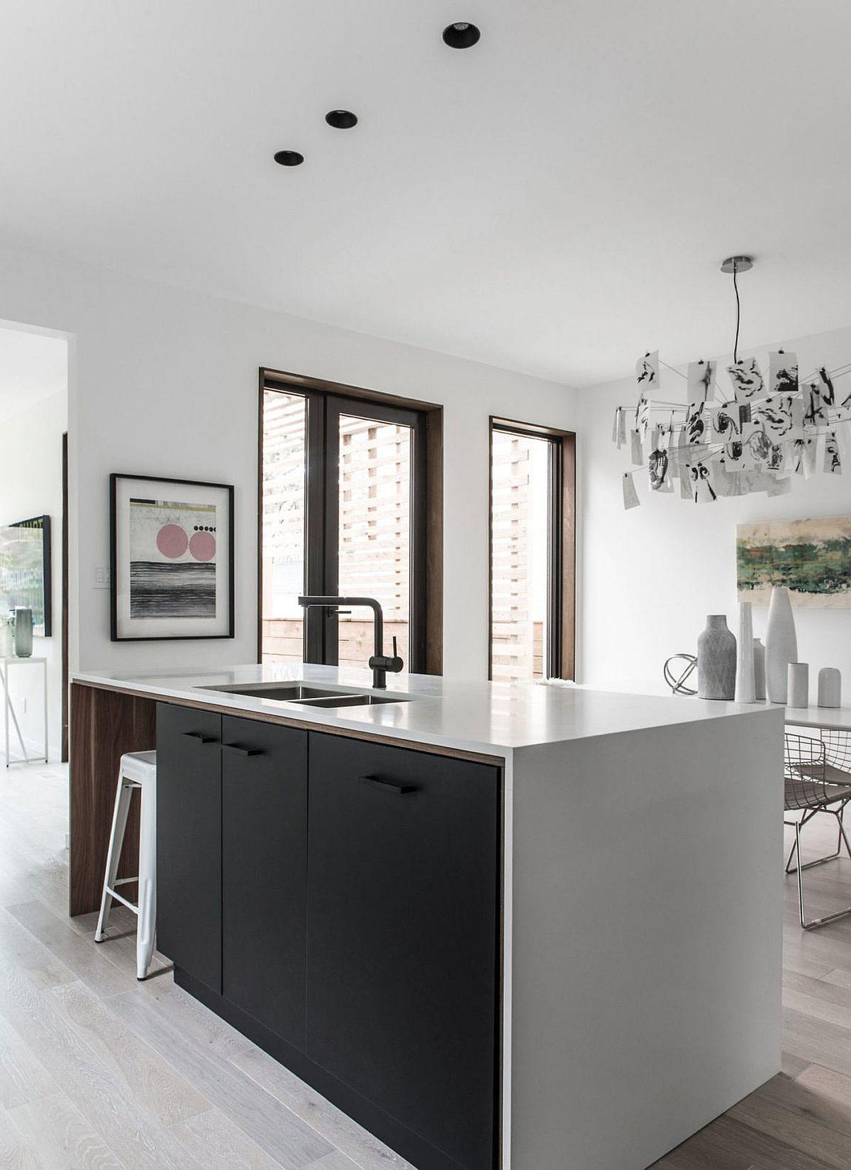Kitchen-island-in-white-with-dark-cabinets