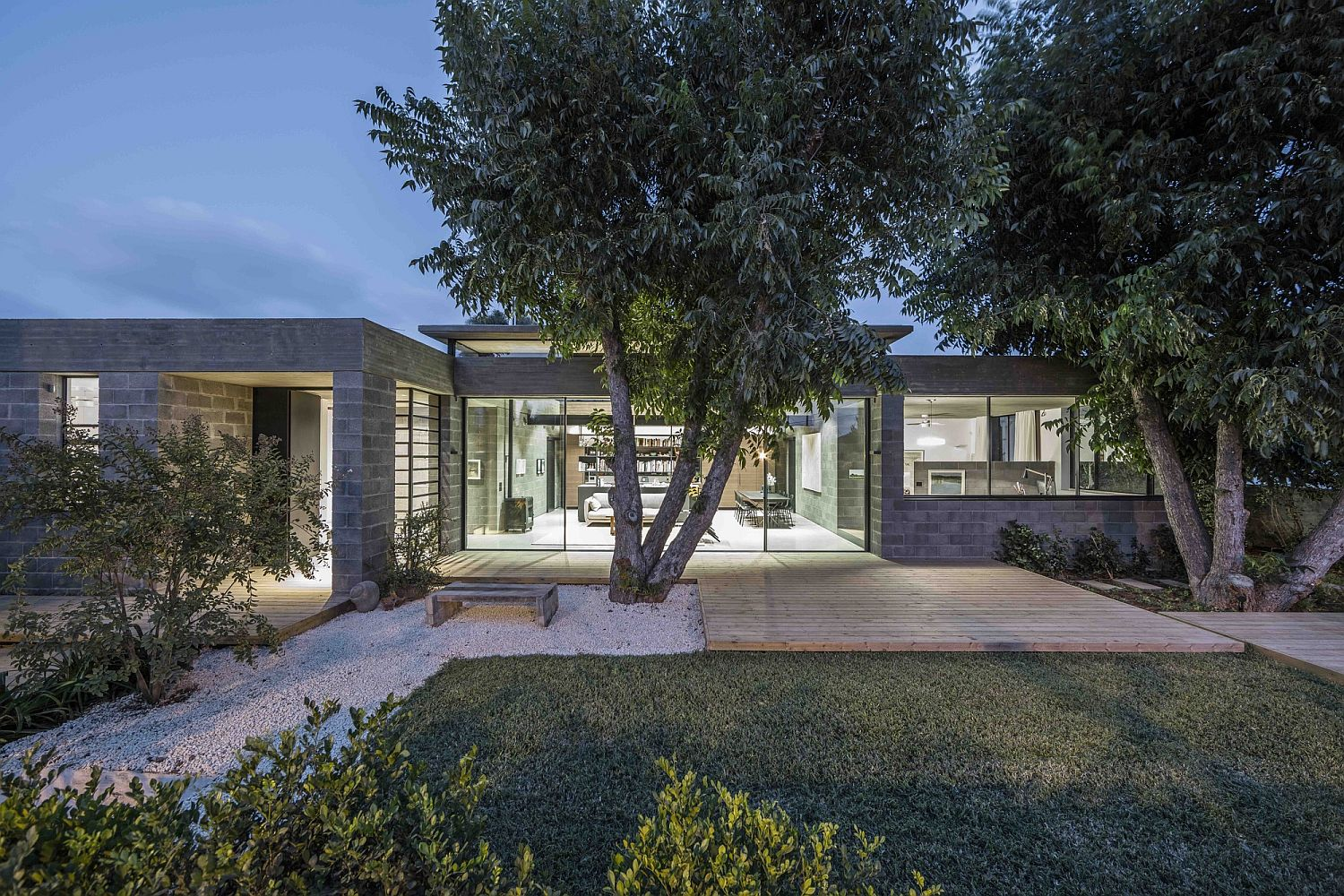 Large pecan nut trees become a part of the home's narrative