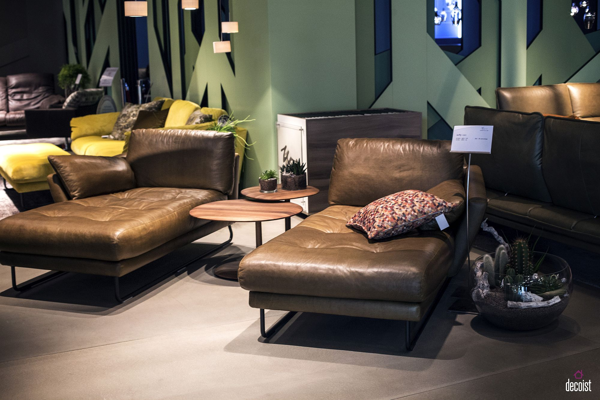 Leather-lounger-coupled-with-wooden-end-tables-in-the-living-room