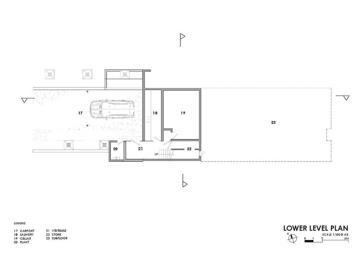 Lower level plan of the Lauriston House
