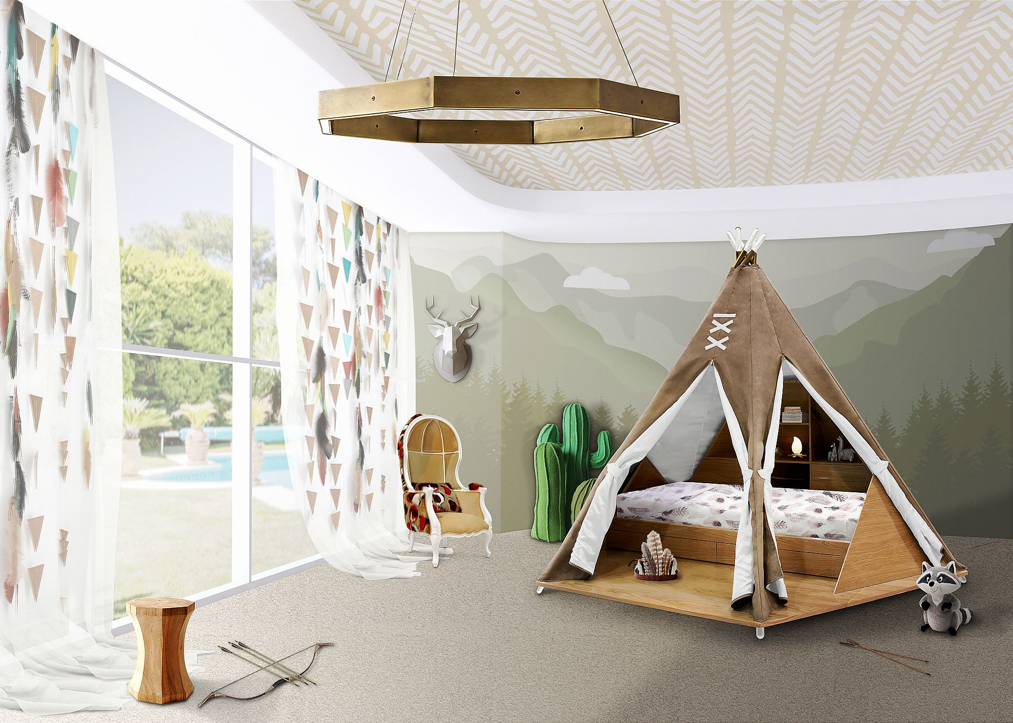 Fun design 10 fabulous teepees for that playful kids room Futon for kids room