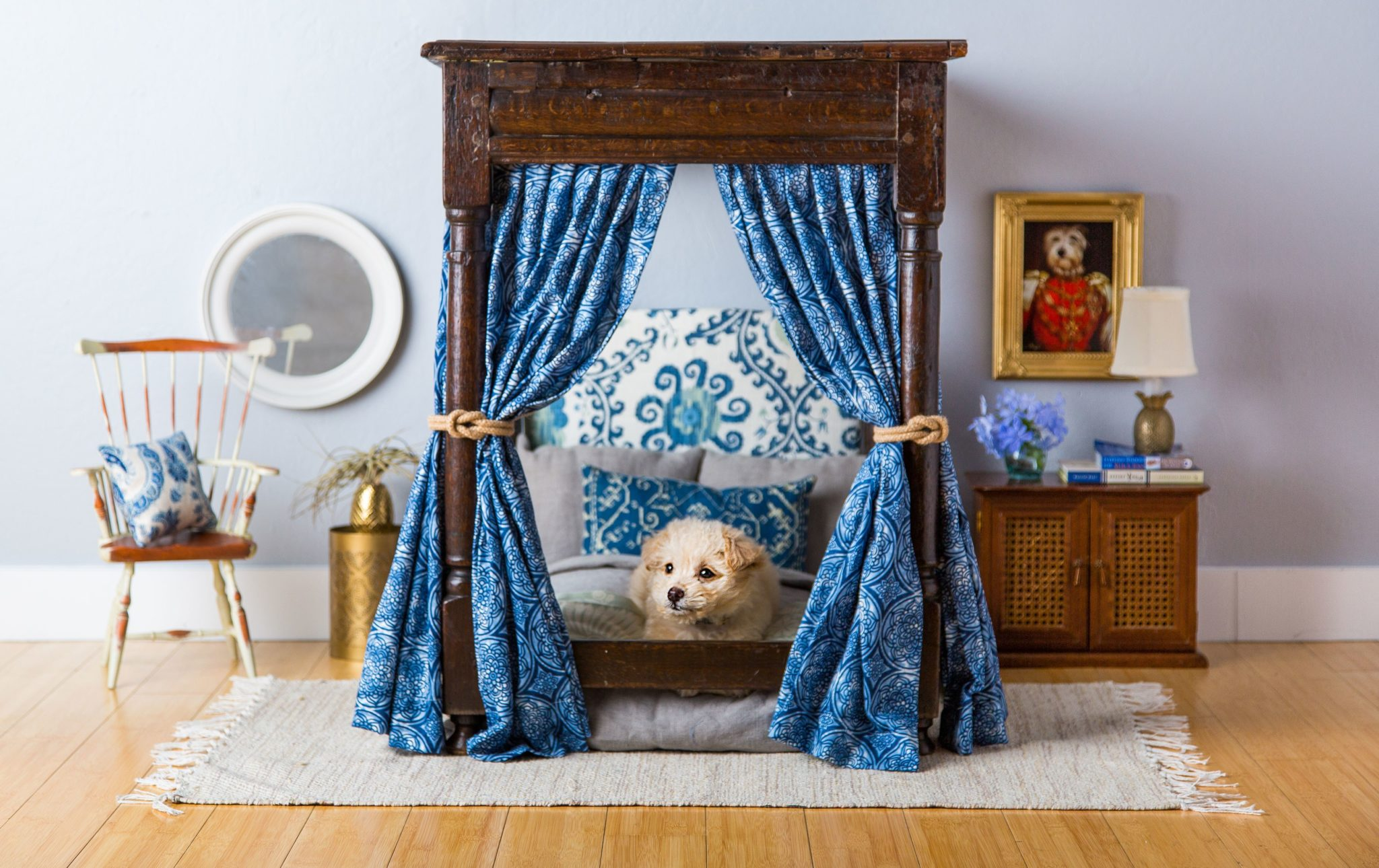 Magnificent and grandiose doggy four poster bed