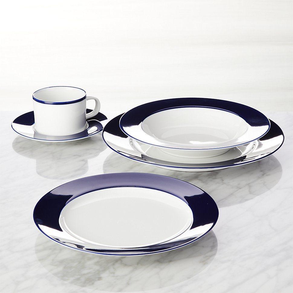 Maison Cobalt Blue dinnerware from Crate & Barrel