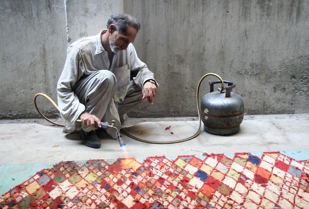 Making the losanges kilim