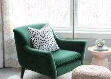 Minimalist-reading-nook-with-a-dark-green-armchair--217x155
