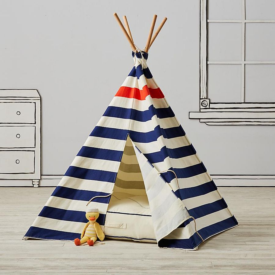 Modern Nautical Teepee from Land of Nod