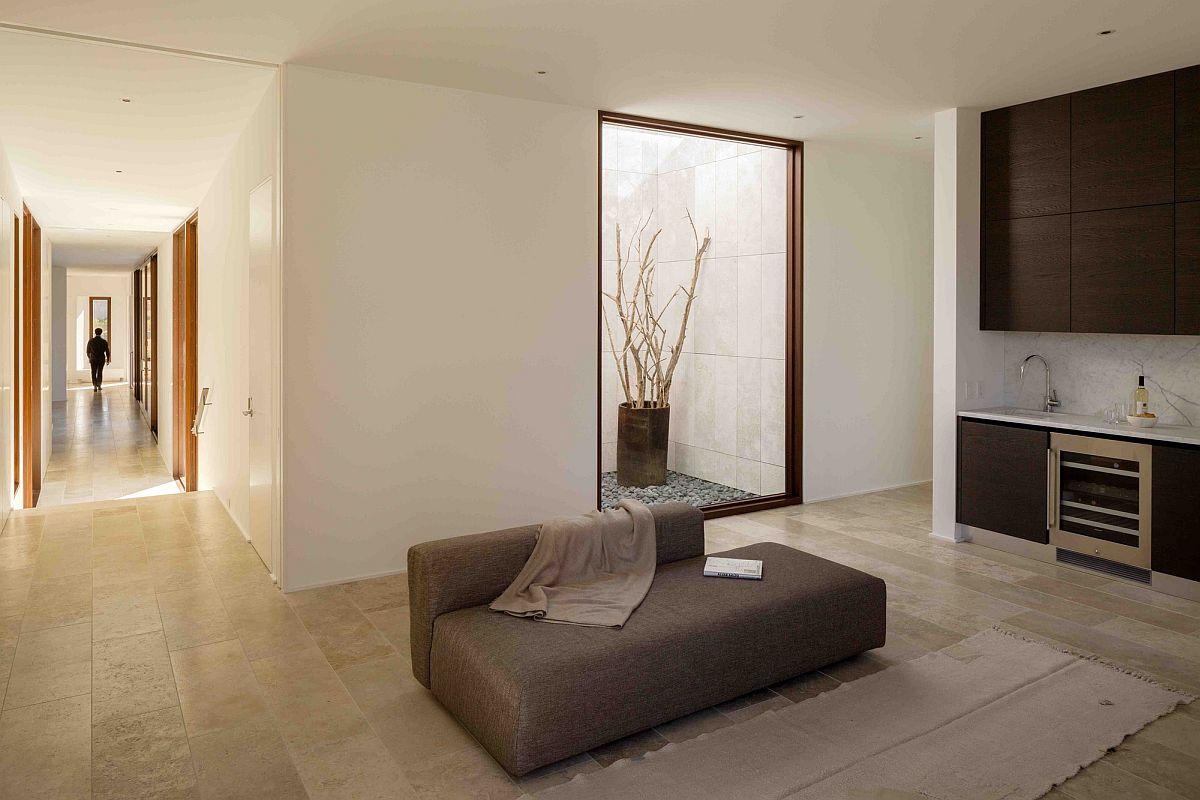 Modern minimal interior of New York home with atrium