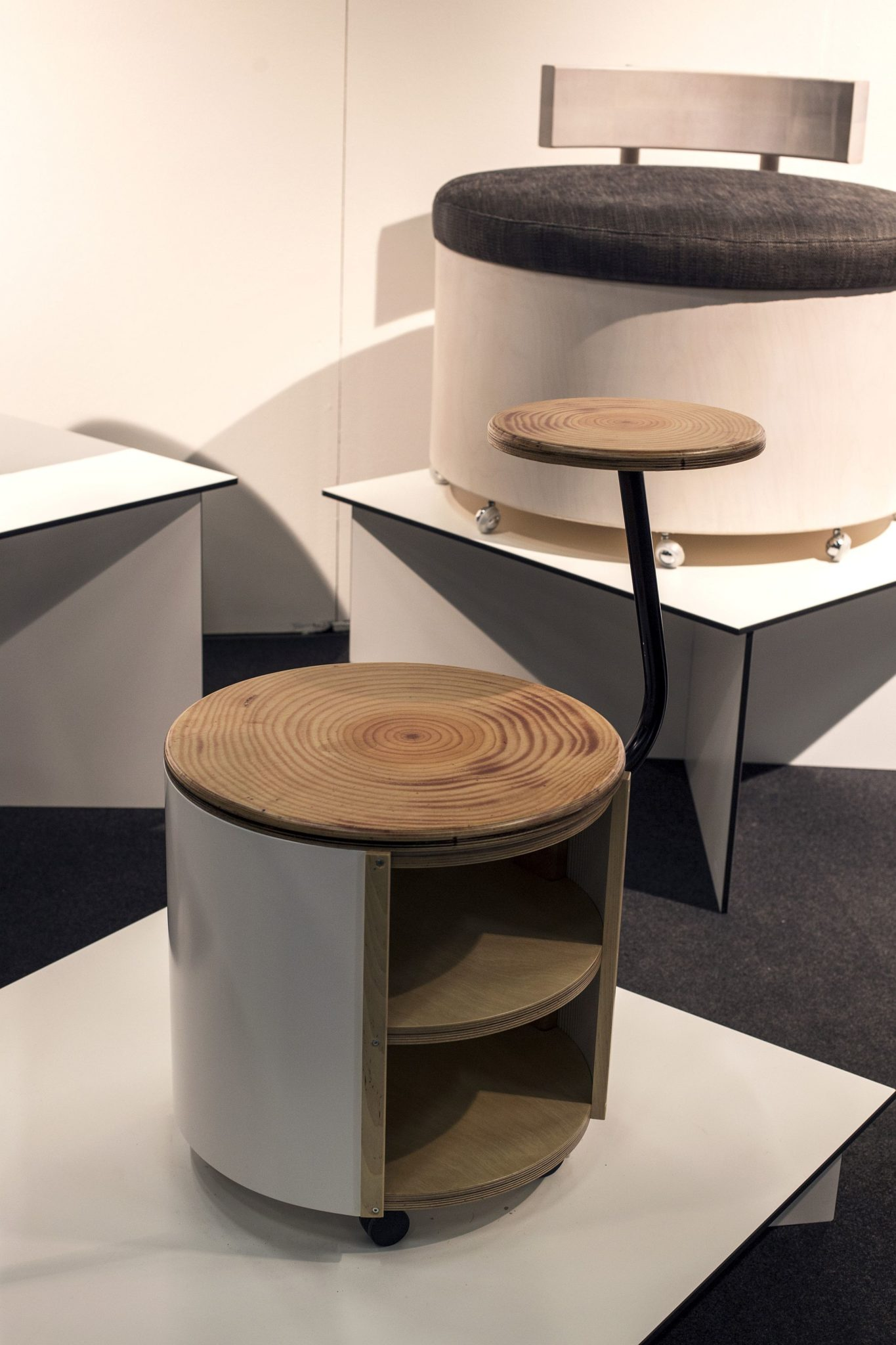 Modular bedside tables on wheels from Design Rookie