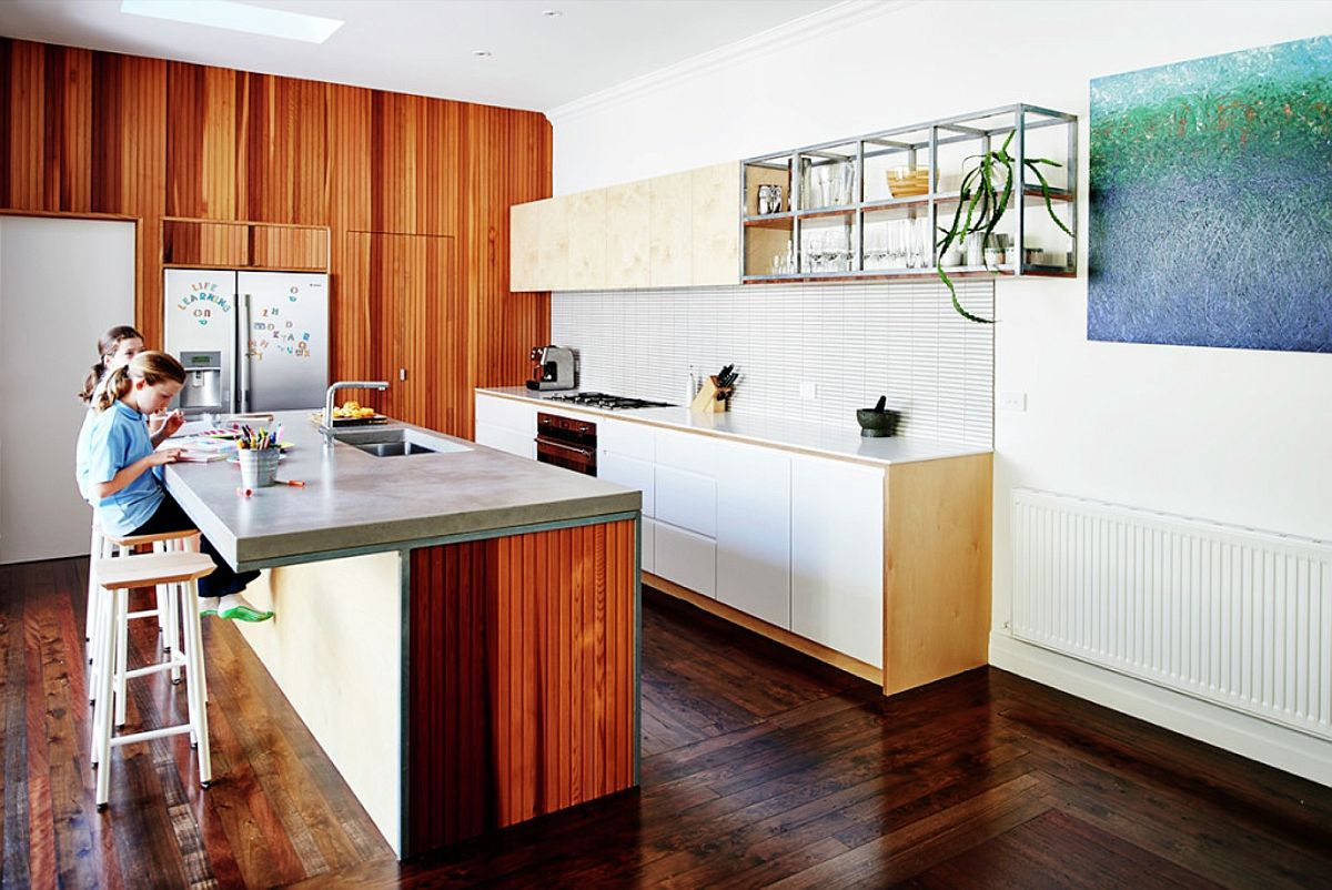 efficient kitchen becomes the heart this revamped aussie home gallery open kitchen design - How To Become A Kitchen Designer