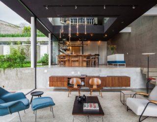 Brazilian-Modern: Poised Multi-Level Family Home in Sao Paulo