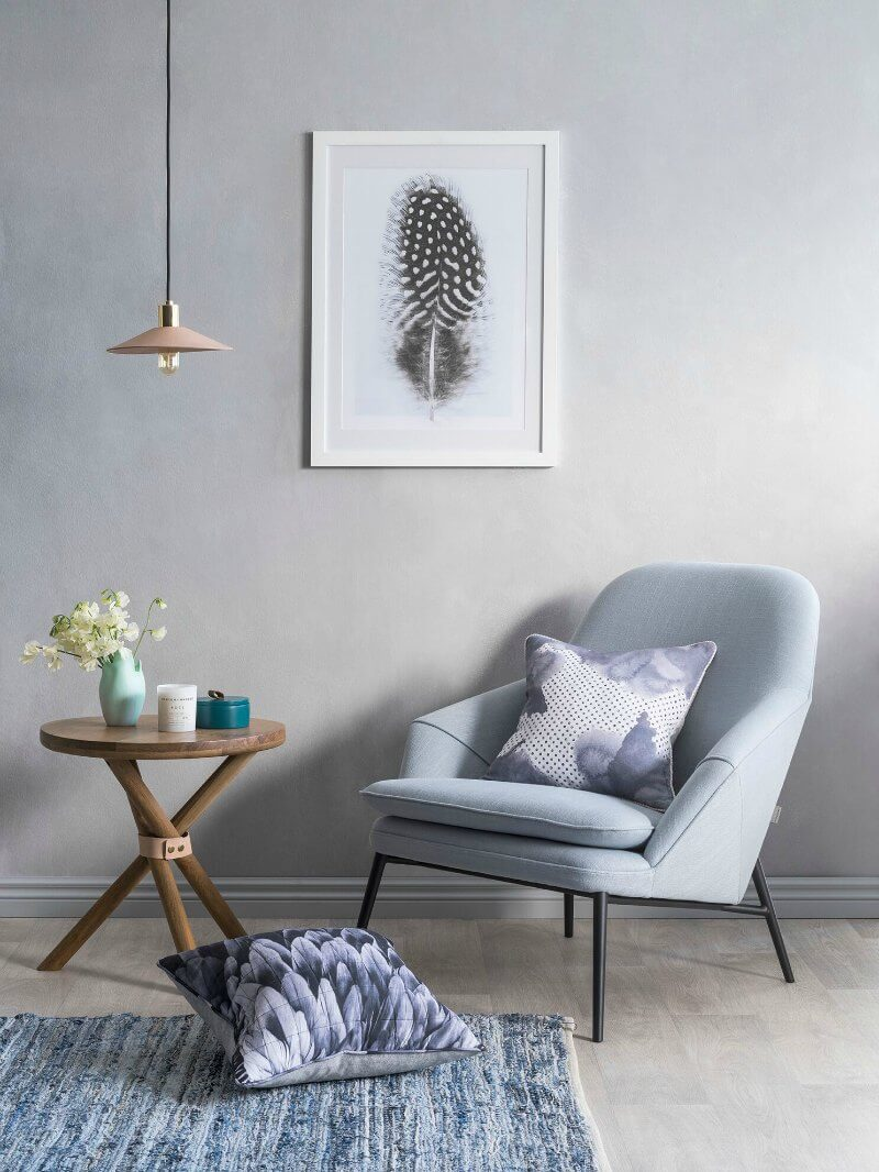 Peaceful and simple reading nook in neutral hues