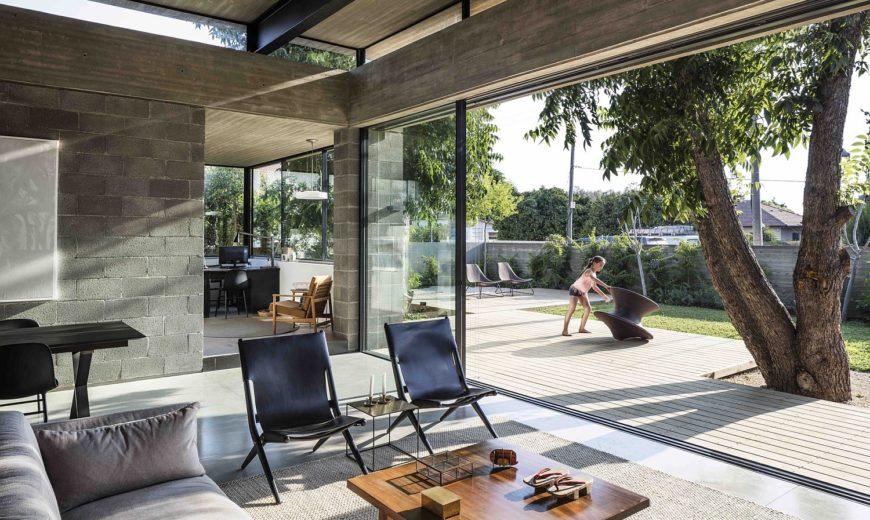 Concrete, Blockwork and a Love for the Landscape Shape Bare House