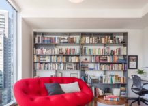 Reading-nook-with-a-lively-sofa-in-a-bold-red-color-217x155