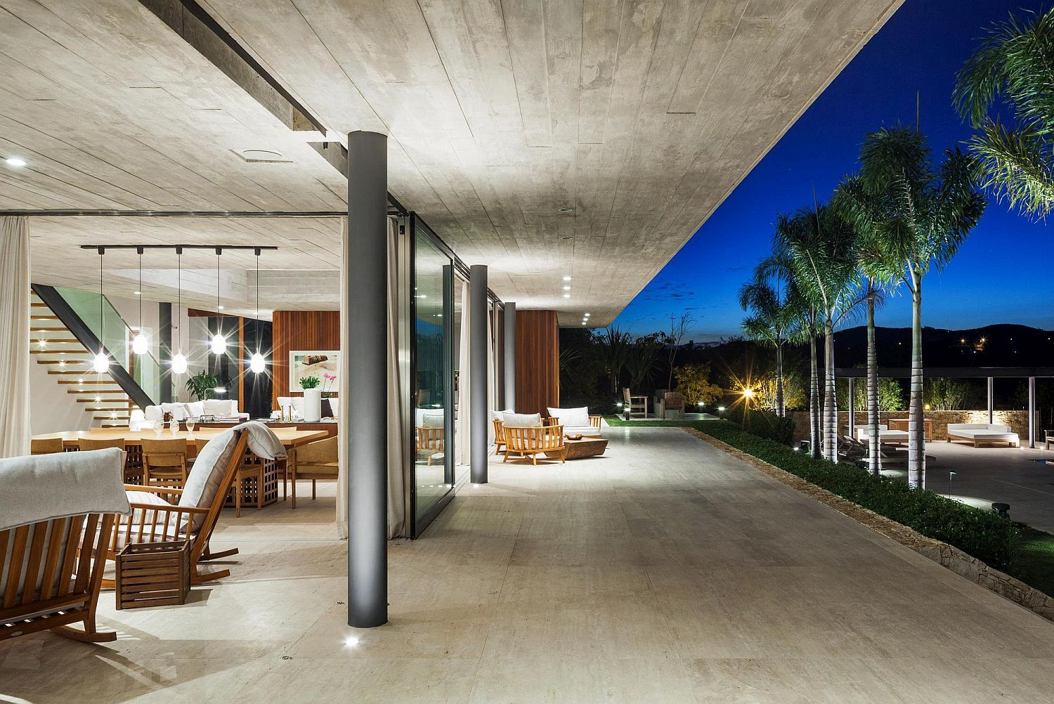 Shaded deck extends the living space outdoors