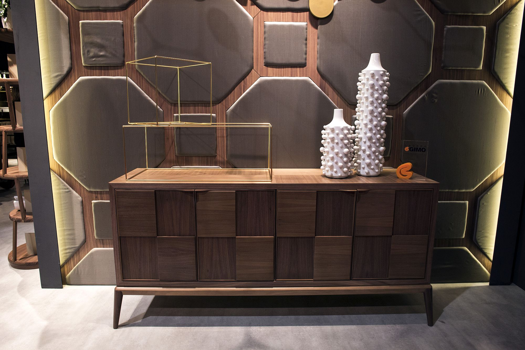 Sideboard-and-even-the-backdrop-add-geo-style-to-the-living-room