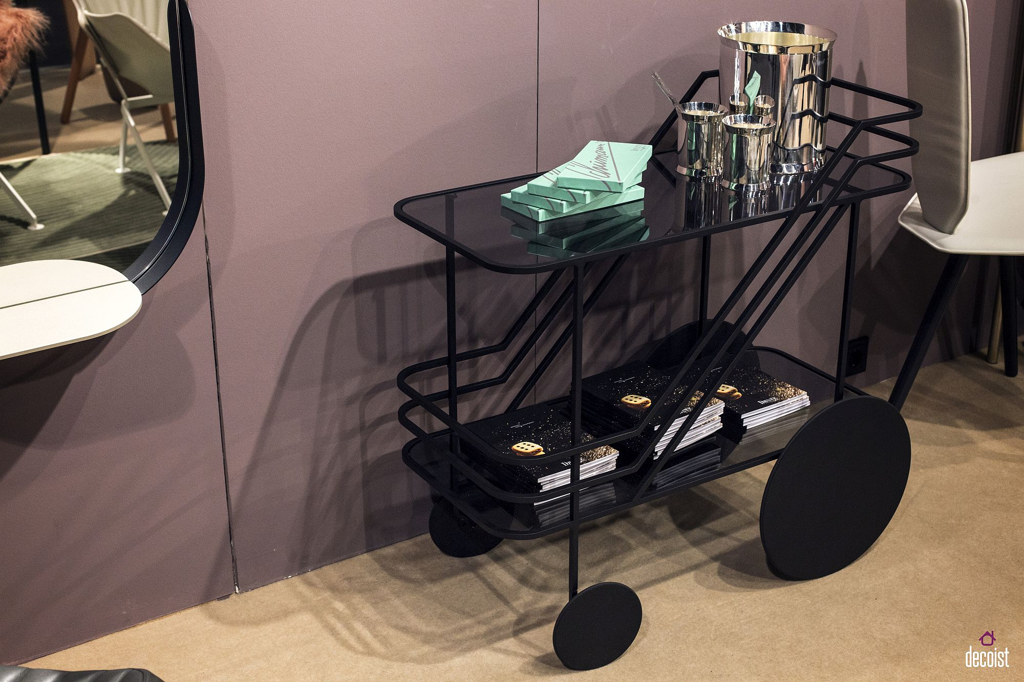 Simple-and-striking-design-of-Come-as-You-Are-Bar-Cart