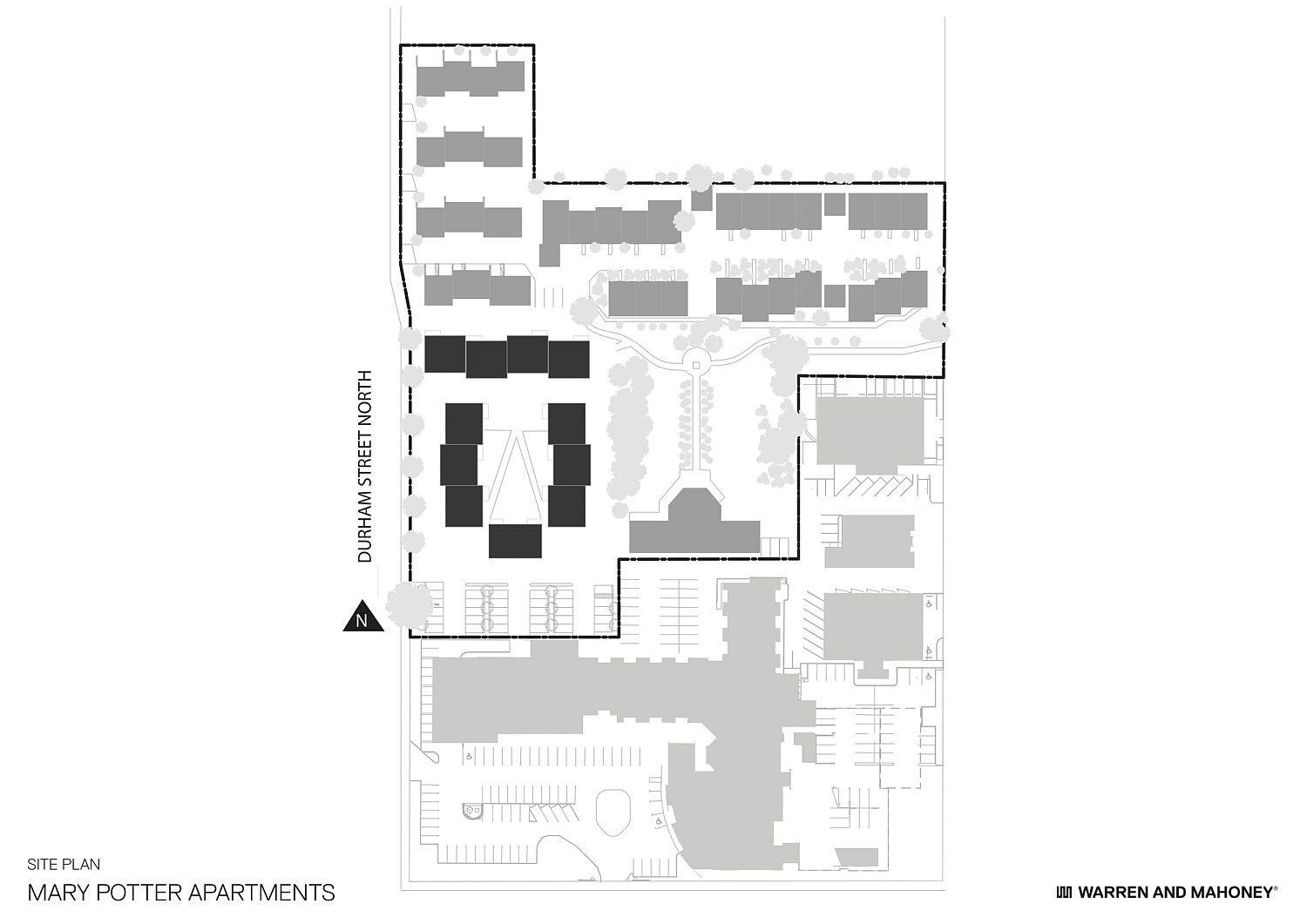 Site plan of 13 new Mary Potter Apartments in Christchurch