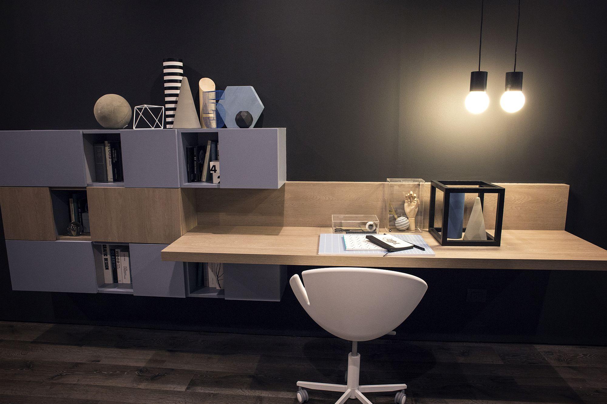 Slim-workdesk-coupled-with-innovative-modular-shelving