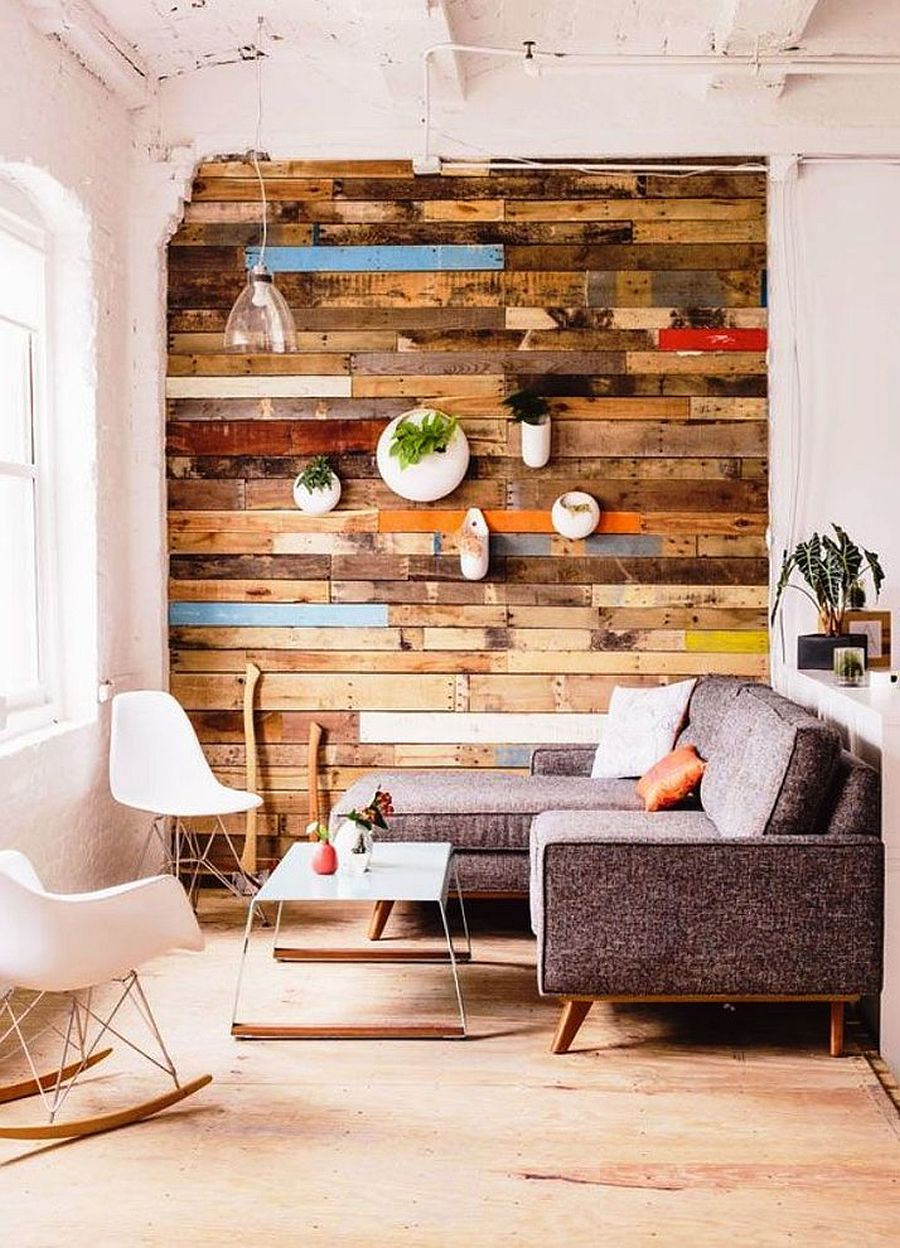 Reclaimed wood wall living room - View In Gallery Small Living Room With Accent Wall