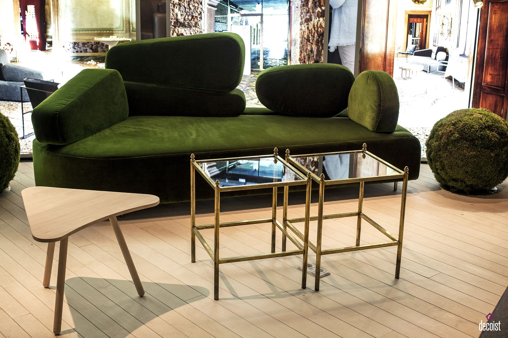Striking green couch from bruhl