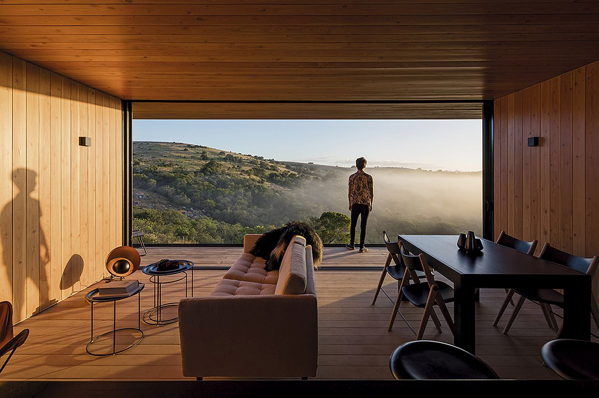Stunning views of the untamed landscape from the smart prefab