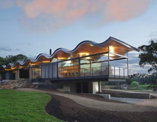 Wavy Brilliance: Stunning Sinuous Roof Steals the Show at Lauriston House