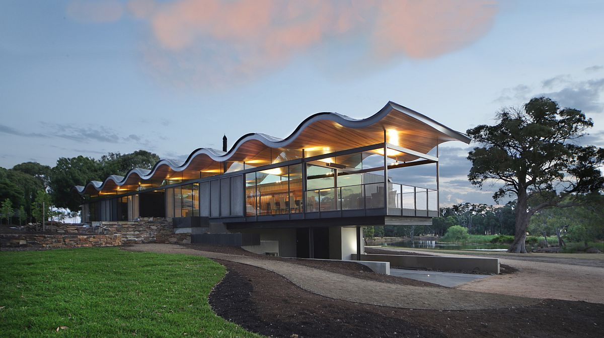 Stunning wavy roof steals the show at the Lauriston House