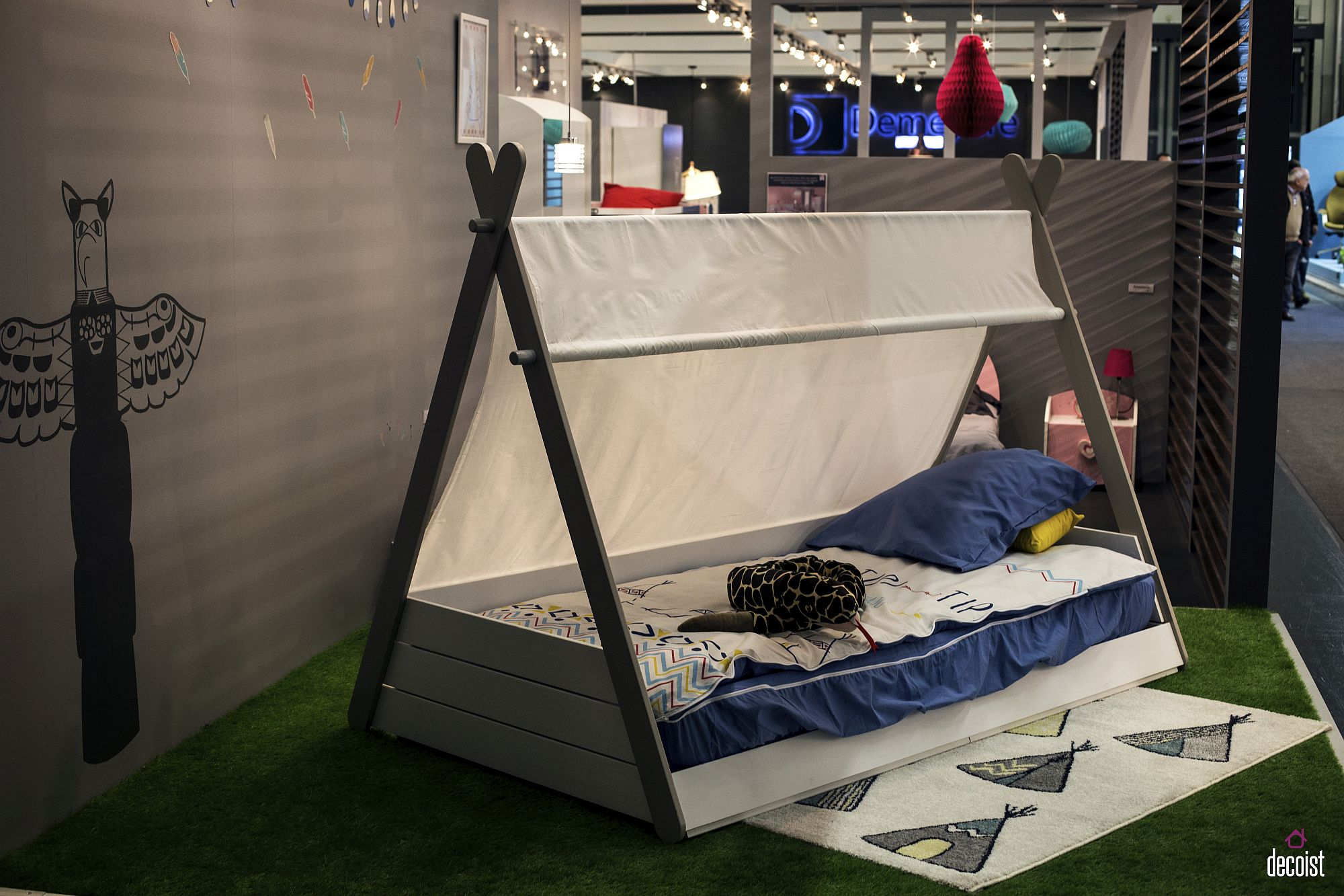 Teepee style bed from Demeyere