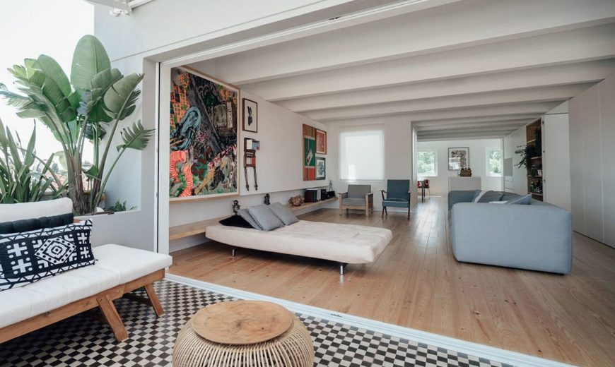 This Radiant Makeover of 1930's Lisbon Apartment Relies on White and Light!