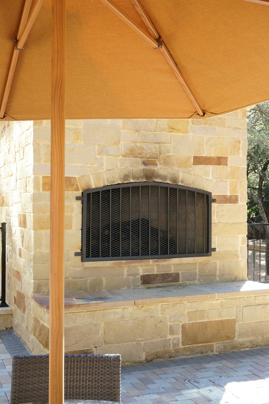 The beauty of an outdoor fireplace