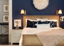 The-dark-blue-wall-is-complimented-by-beige-elements-217x155