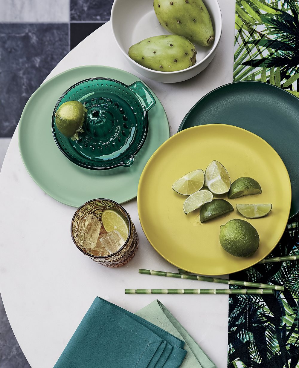 Tropical tabletop style from CB2