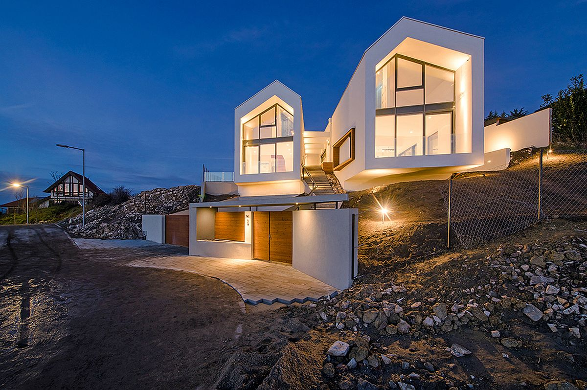 Twin-gabled-roofs-of-the-V-House-stand-out-visually
