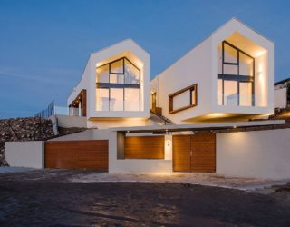 A Bird's-Eye View of Budapest: Hilltop House with Twin Gable Roofs