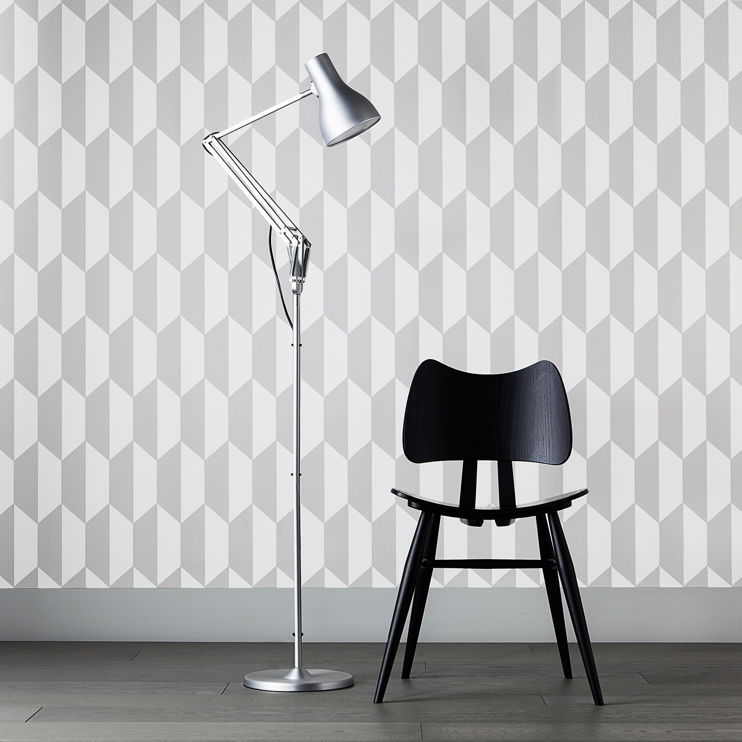 Type 75™ floor lamp brushed aluminium