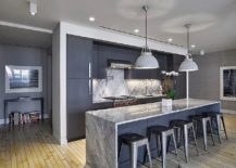 A Kitchen In Bluish Gray Leads The Pack Here With Other Lighter Hues Of Gray Following Closely Behind When Choosing Gray As The Principle Color In The