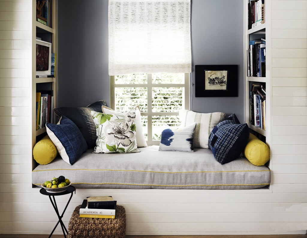 Window seat as a comfortable reading nook