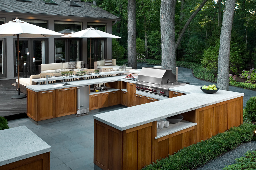 lovely Outdoor Kitchen Pictures Design Ideas Part - 16: Sophisticated Neutral Style