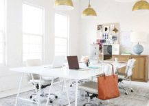 All-white-office-with-golden-lamps-217x155