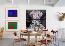 Art work ushers in color into the contemporary reading room 217x155 North Bondi II Residence: Modern Beach Style with Colorful Flair
