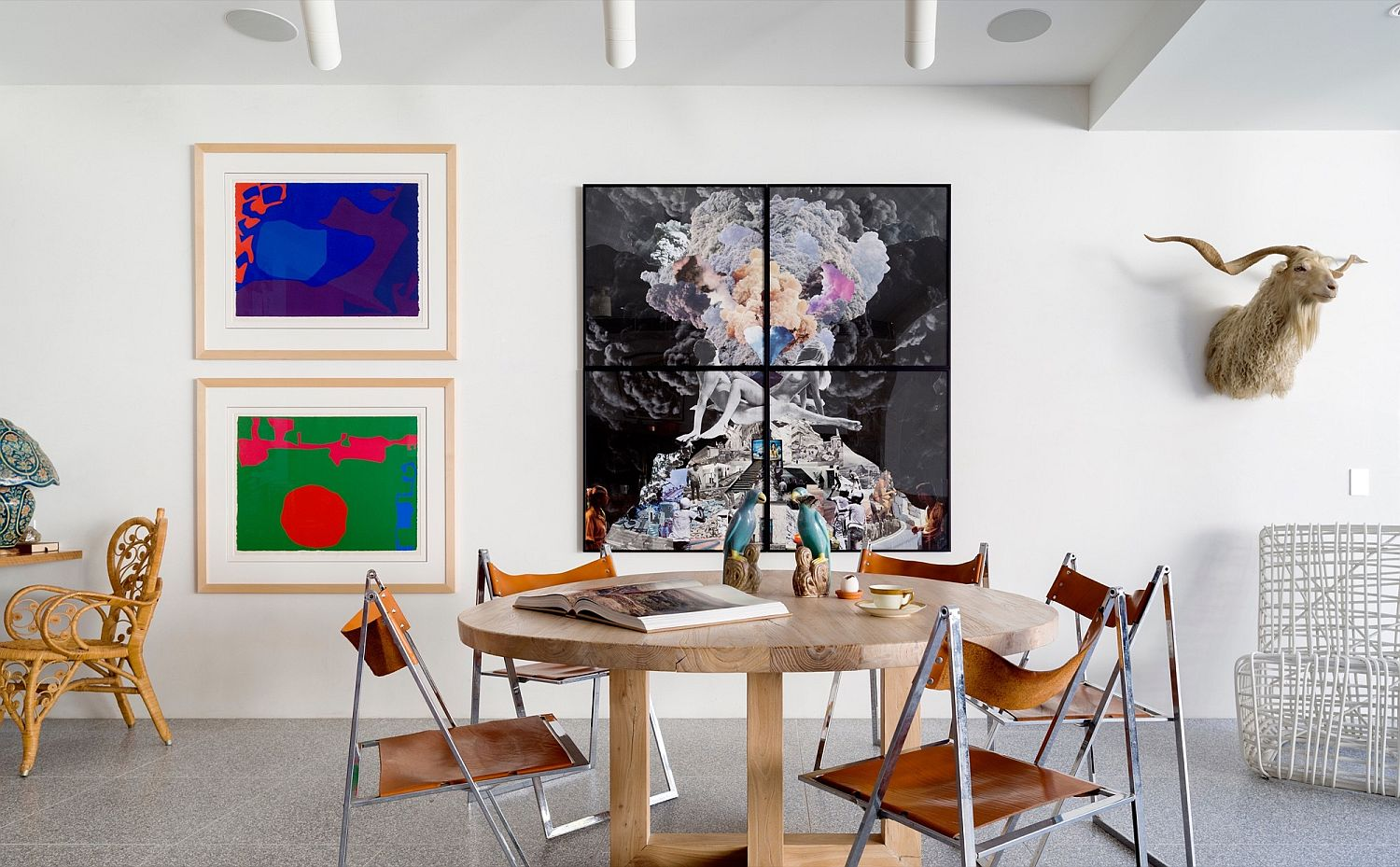 Art work ushers in color into the contemporary reading room